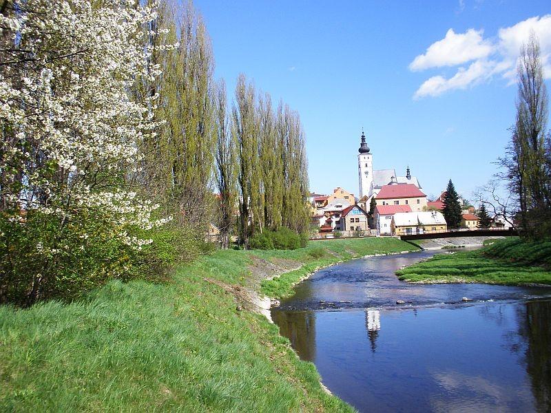 Příbor pohled na řeku Lubinu