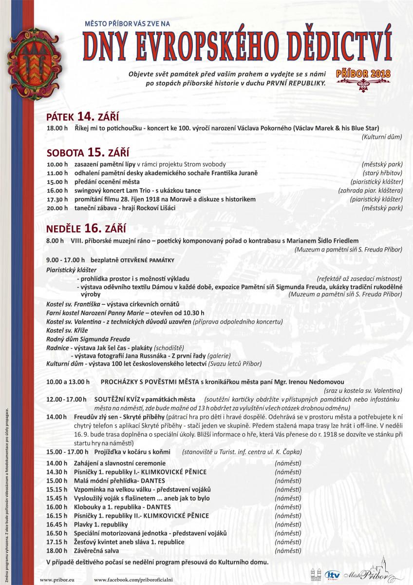 Dny evropského dědictví 2018 (European Heritage Days 2018)