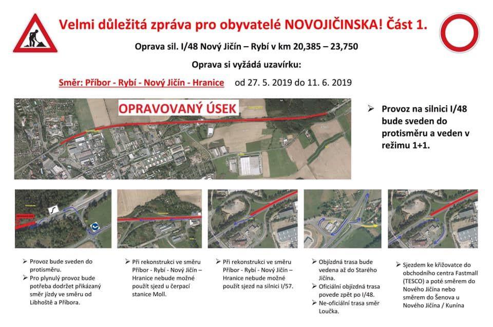 Oprava silnice I-48 Nový Jičín - Rybí