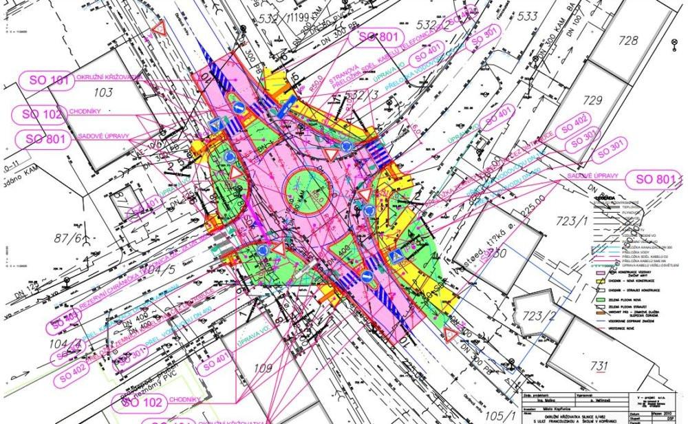 Kopřivnice kruhový objezd 1