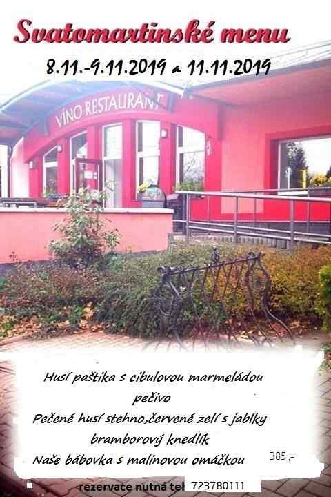 Svatomartinské menu - Vinorestaurant Příbor