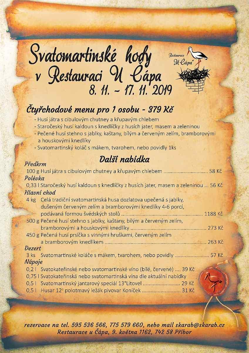 svatomartinske_menu_2019 Restaurace U Čápa
