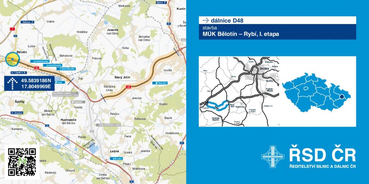 Zahájení stavby dálnice D48 MÚK Bělotín – Rybí, I. etapa.